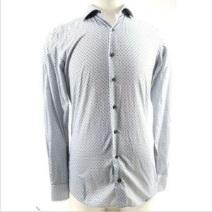 Eterna Slim Fit Men's Dress Shirt Size 15 3-4 Gray